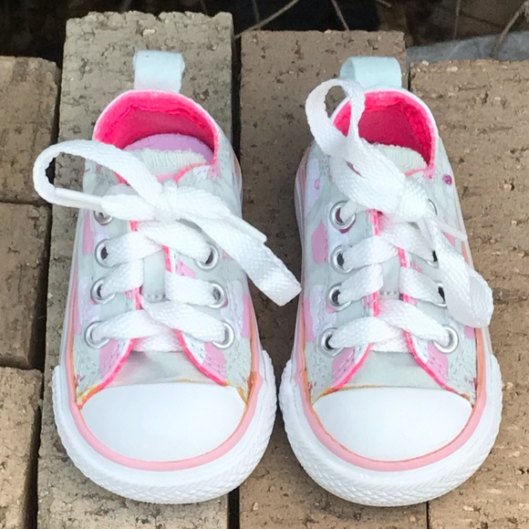 Converse Other - Converse Cupcake All Star Infant Shoes Size 3